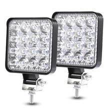2 шт. 48 Вт 30 градусов светодиодный прожектор луч светильник s квадратная дорожная лампочка лампа светильник противотуманный светильник ing для Jeep SUV/грузовик/ATV/транспортные средства/морской
