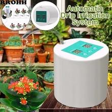 지능형 정원 Succulents 충전식 자동 급수 장치 화분 용 식물 물방울 관개 타이머 시스템 급수 키트