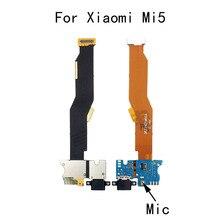 Микро Док-станция разъем зарядное устройство разъем плата для Xiaomi Mi5 USB зарядный порт с микрофоном гибкий кабель запасные части