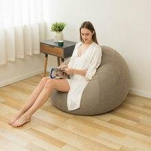 Recliner zmywalny wygodne krzesło worek fasoli dmuchana dmuchana Sofa składana leżanka Ultra miękka kanapa sypialnia salon na zewnątrz