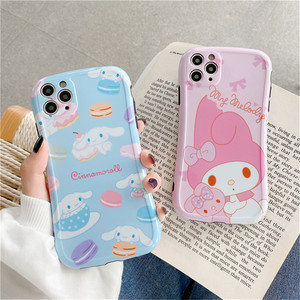 Cute Cartoon Sanrio Cinnamoroll My Melody Phone Case for iPhone 7 8 Plus 11 Pro X XS Max XR Candy Anime Toy Pink Cover Fundas(China)