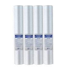 """4 sztuk 20 """"filtr do wody 20 Cal 5 Micron osadów wkład do filtra wody PP filtr bawełniany System filtrowania wody"""