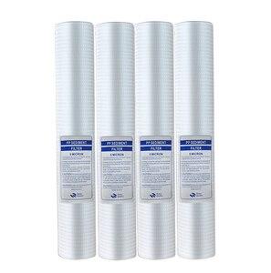 "Image 1 - 4Pcs 20 ""Waterzuiveraar 20 Inch 5 Micron Sediment Water Filter Cartridge Pp Katoen Filter Water Filter Systeem"