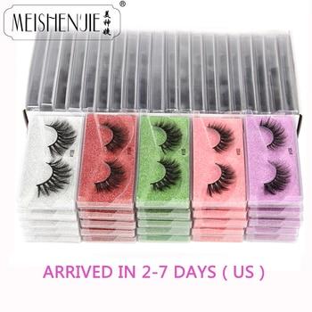 Wholesale Mink Eyelashes 10/30/50/100pcs 3d Mink Lashes Natural false Eyelashes messy fake Eyelashes Makeup False Lashes In Bulk 1