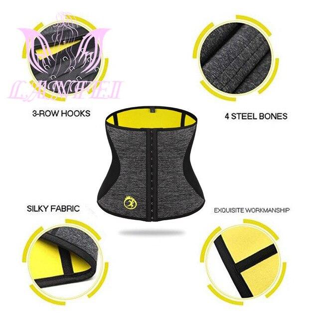 LANFEI Waist Tainer Tummy Shaper Belt Women Hot Neoprene Sweat Body Shaper Strap Girdle Slimming Waist Trimmer Corset Shapewear 4