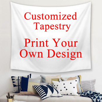 Customized Decorative Polyester Tapestries Large Size Wall Tapestry Customized Photo Print Home Decor Hanging Blanket Tapestry butterfly print home decor wall hanging tapestry