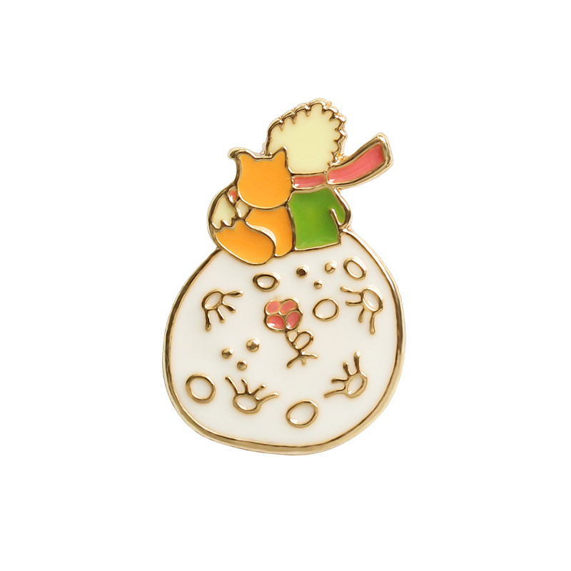 The Little Prince Cute Brooch DIY Badge Stationery Bookmark Gift 2.5cm*1.6cm Lovely School Office Supplies 1 Piece