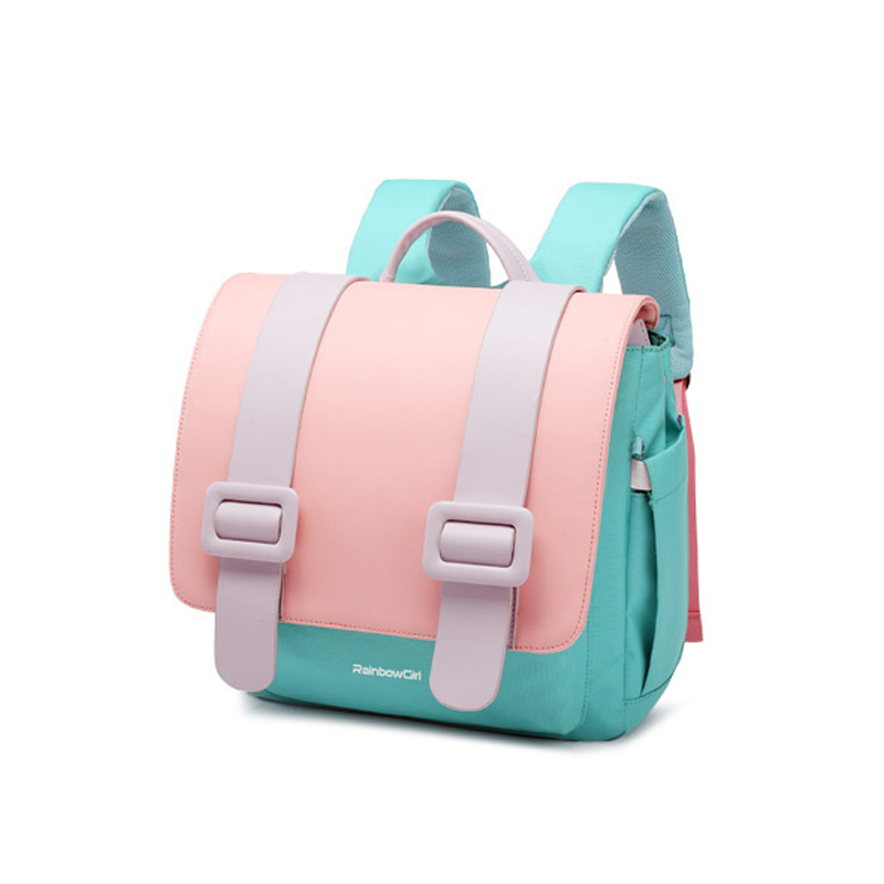 Rainbow Girl Pink Waterproof Mochila Infantil 1-3-6 Years School Bags For Girl  New Kids Bag  School Backpack  Kids Fashion Bags