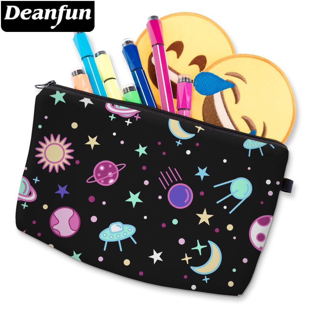 Deanfun 3D Printed Starry Sky Cosmetic Bag Durable Polyester Pretty Makeup Bag Women's Makeup Zipper Bag D51469