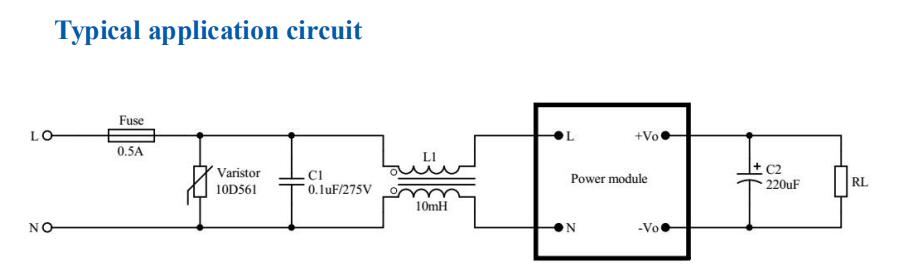 5W typical circuit