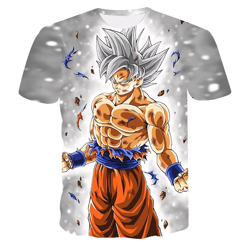 Summer 3D Printing Japan Dragonball Anime Goku Boy's T-shirt Fashion Casual Short Sleeve Children's Sports Undershirt Kids Tops