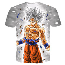Summer 3D Printing Japan Dragonball Anime Goku Boy's T-shirt Fashion Casual Short Sleeve Children's Sports Undershirt Kids Tops