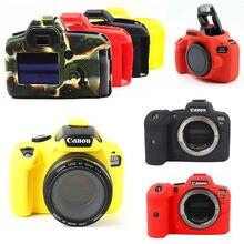 Armadura de Silicone Pele Caso Saco DSLR Corpo Da Câmera para Canon EOS R6 M50 90D 800D 1300D 850D 5D2 6D2 200D 5D 6D Mark II T7i T6 T8i