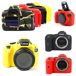 Силиконовая кожа брони чехол для DSLR камеры чехол для Canon EOS R6 M50 90D 800D 1300D 850D 5D2 6D2 200D 5D 6D Mark II T7i T6 T8i