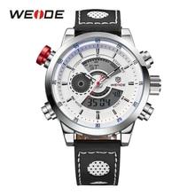 WEIDE Military Watches Men Luxury Brand Alarm Clock Japan Quartz Leather Strap Analog Digital Waterproof Sport Chronograph стоимость