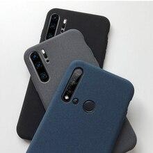 plain grit matte case on for huawei p40 p30 p20 p10 p9 p8 lite
