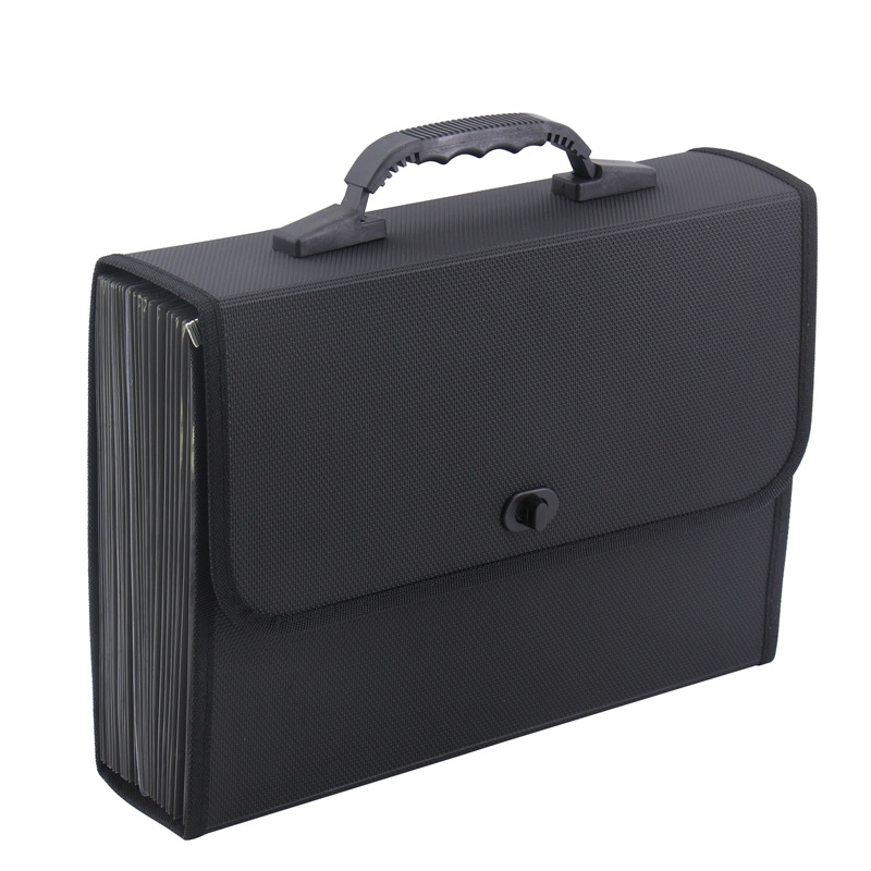 26 Pockets Expanding File Folder Organizer Briefcase Waterproof Business Filing Box With Handle Office Supply