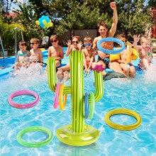 Кактус аквапарк плавательный бассейн кольцо бросить игр надувные игрушки для бассейна с 4 кольцо воротник надувной бассейн игрушки-пазлы