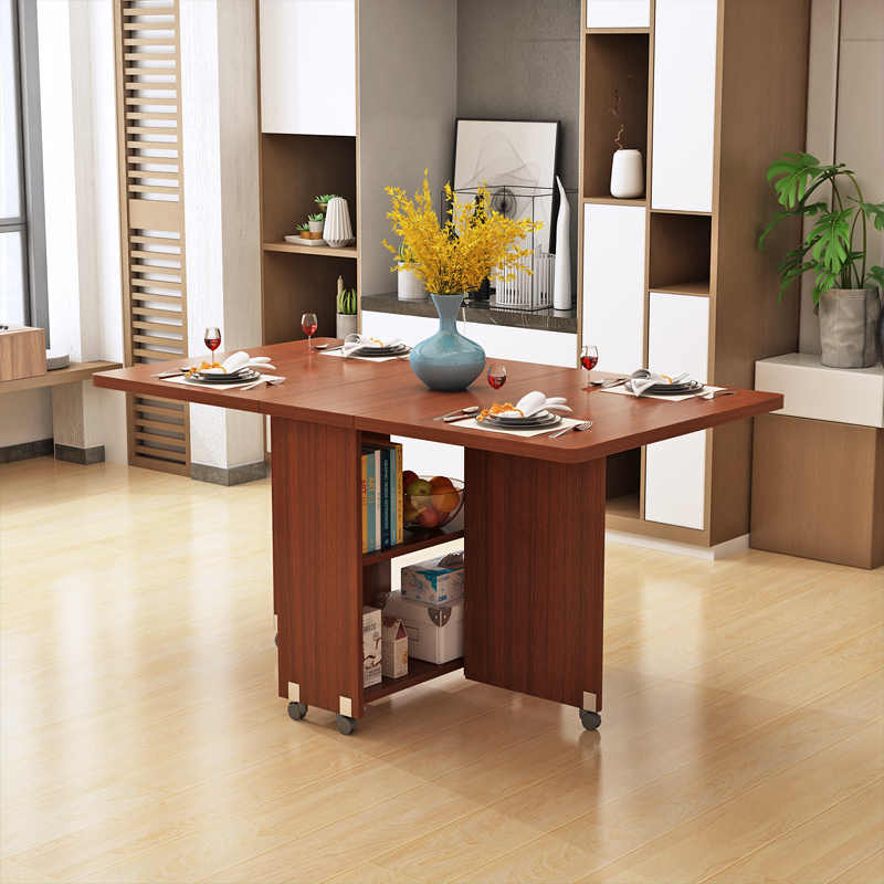 table a manger pliante moderne meuble de cuisine salon mobile retractable multifonction solide