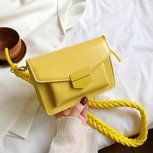 цена на Braided Shoulder Strap Design Small PU Leather Crossbody Bags For Women 2020 New Lady Shoulder Handbag Female Luxury Flap Bag