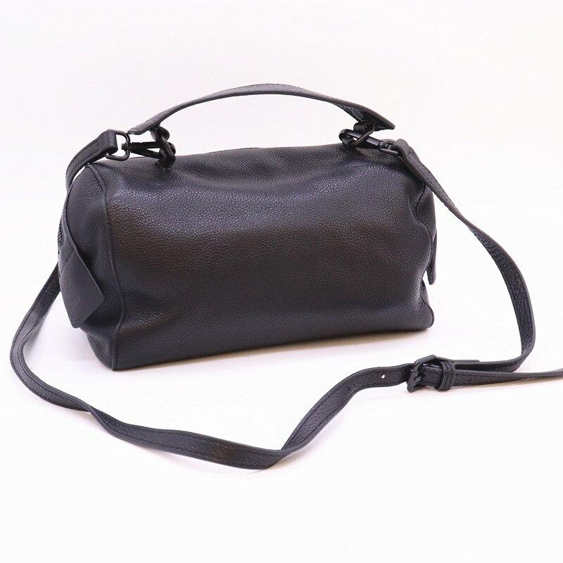Mesoul 100% sac à main en cuir véritable femmes sac à bandoulière Portable femme mode sacs à bandoulière dames fermeture éclair petit sac fourre-tout sac à main - 2