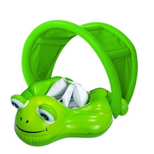 Baby Children's Summer Swimming Frog Shade Swimming Ring Lying Ring Cute Frog Shape