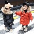 Одежда для маленьких мальчиков и девочек зимняя утолщенная хлопковая куртка Милая Кепка-капюшон принцессы пуховое пальто для детей от 1 до 5...