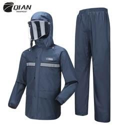 QIAN Impermeable para mujer/hombres Anti-virus lluvia Poncho Impermeable chaqueta de lluvia pantalones traje hombres moto lluvia