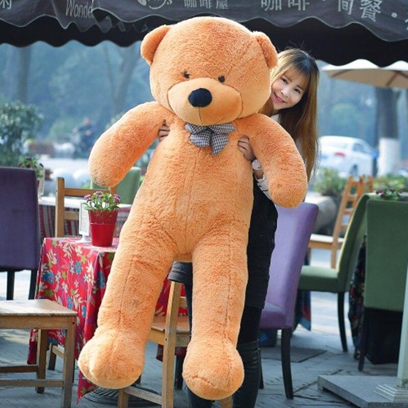 80-180cm Teddybär Plüsch Spielzeug Weiche Äußere Haut und Kuscheltiere Bär Mantel Urlaub Geschenk Geburtstag Geschenk valentine Brinquedos