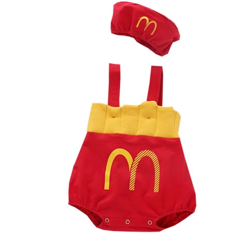 Baby Infant Clothes Fashion High Quality Kids Newborn Bodysuit Party Birthday Cap+Bodysuits 2Pcs Boy Girl Clothing Jumpsuit Boys
