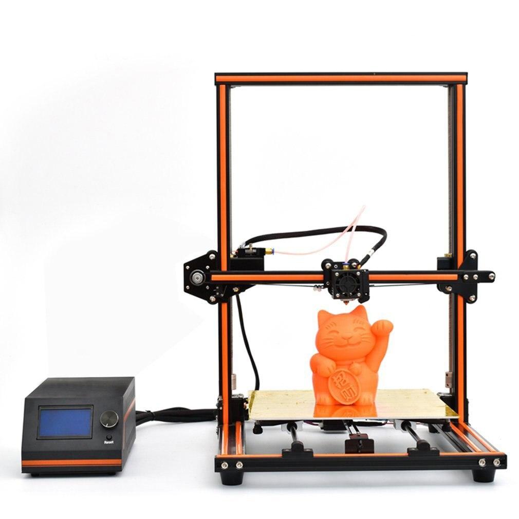 E12 3d Printer Aluminum Frame High Precision Desktop 3d Printer Kits Reprap Diy Kit Set Off line Printing Free 10m Filament US|3D Printers| |  - title=