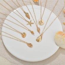 Letapi nova concha colares & pingentes para as mulheres do vintage charme gargantilha de ouro colar 2020 boêmio jóias de verão por atacado