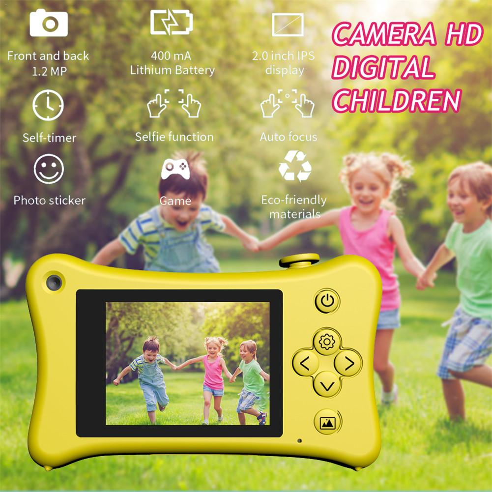 Newest High Quality Kids Camera Mini SLR Camera Gifts Toys For Christmas 2.0 Inch IPS HD Digital 1080P Video Recording Camera