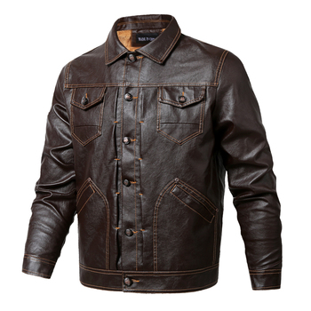 2019 Winter PU Leather Jackets Men Tactical Army Fleece PU Jacket Warm Military Pilot Coat Thick Wool Liner Motorcycle Jacket