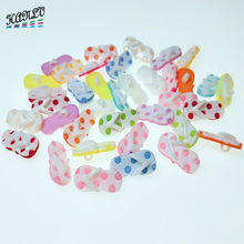 HANLV 21x10mm 30PCS Mix Colors Random slippers Shank Plastic Buttons Apparel Sewing Accessories DIY Crafts