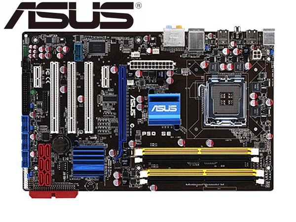 ASUS P5Q SE Socket LGA 775  Original Used Desktop For Intel P45 Motherboard DDR2 USB2.0 SATA2 Mainboard PC