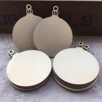100pcs Unfinished DIY Wooden ROUND CHRISTMAS BAUBLE Birch Blank Decorations Gift Tag Craft Shapes Embellishments