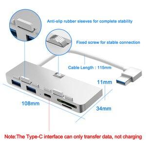 Image 5 - Rocketek Aluminum alloy usb 3.0 hub 3 port adapter splitter with SD/TF Card Reader for iMac 21.5 27 PRO Slim Unibody computer