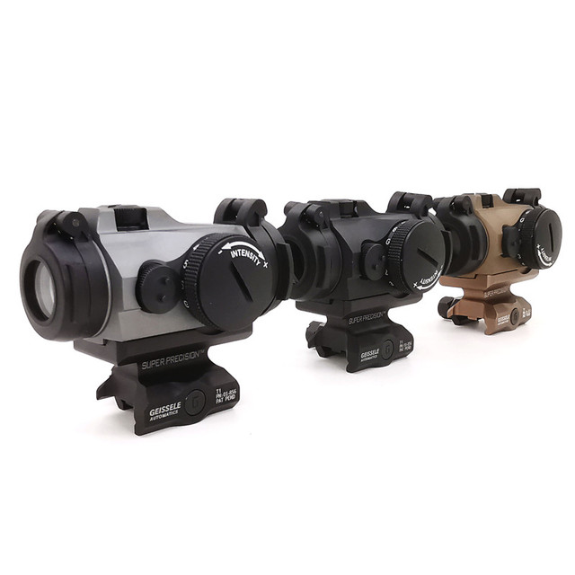 SOTAC-GEAR Tactical Rifescope Sight 2MOA T2 Sight Illuminated Sniper Red Green Dot Sight With Quick Release Red Dot Scope 1