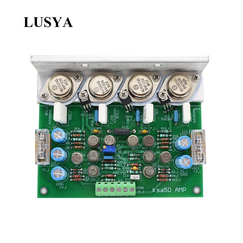 Lusya 1pcs Class A Power Amplifier Board 150W-200W Mono Channel Finished Board DC 20V-80V KRELL KSA50 T1203