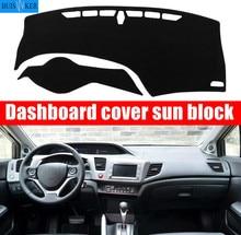 Auto Dashboard Mat Cover Dashmat Pad Sun Shade Instrument Carpet Car Styling For Honda Civic 9th 2012 2013 2014 2015 Accessories lsrtw2017 abs car gear trims for honda civic 2012 2013 2014 2015 9th civic