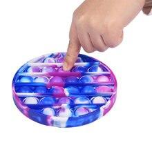 Push Bubble Fidget zabawka sensoryczna autyzm specjalne potrzeby Stress Reliever dzieci dorosły antystresowy zabawka poput zabawki typu Fidget prosty dołek