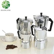 Duolvqi Aluminum Coffee Maker Durable Moka Cafeteira Expresso Percolator Pot Practical Moka Coffee Pot 50/100/150/300/450/600ml