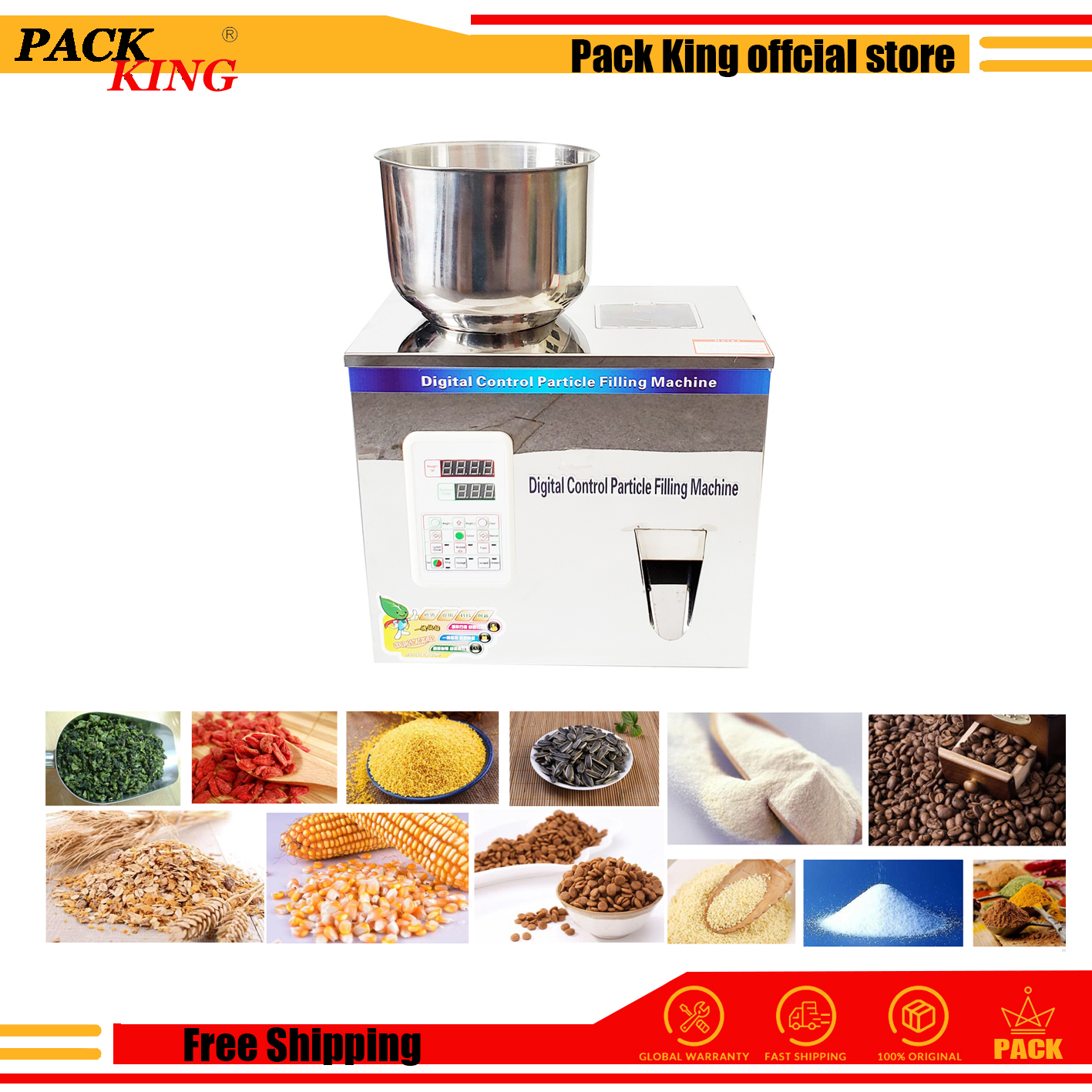 200g Weight And Filling Machine Tea Leaf Filler Grain Nut Sesame Seed Salt Rice Scale Coffee Condiment Milk Powder Free Shipping