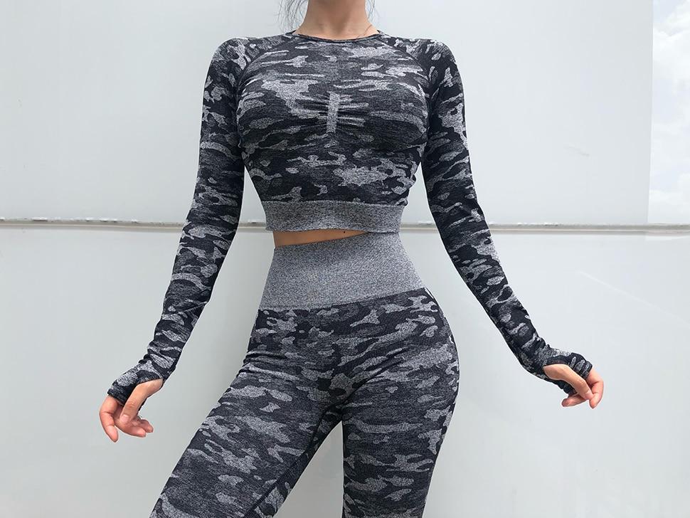 01 Yoga ensemble tenue de Sport femmes