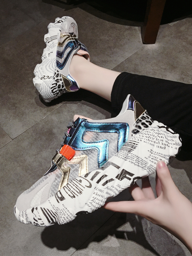 2019 Fashion women shoes casual platform sneakers shoes increasing wide wedge women's shoes Mesh harajuku female shoes crystal|Women's Vulcanize Shoes| |  - title=