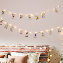 Герлянда для декора led string 2 м/5 м/10 м USB светодиодный гирлянда для использования вне помещения Рождественская медная проволочная Гирлянда для фото клип Декор гирлянды батарея Фея цепь лампы герлянда гирлянда на