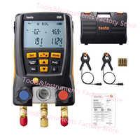 Testo 550 di Refrigerazione Collettore Digitale Kit 0563 1550 con 2pcs Morsetto Sonde del Refrigerante Elettronico Meter Set
