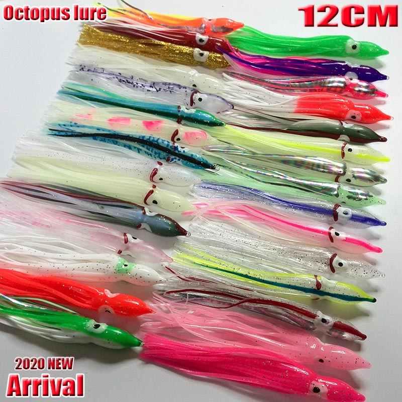 2020nueva llegada caliente pesca pulpo blando faldas de pesca usted elige cada tipo 16 unids/lote de longitud es 12CM