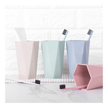 Travel Portable Washing Cup Bathroom Plastic Cup Toothbrush Holder Storage Organizerbathroom Cup Solid Color image